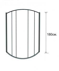 Овална душ кабина 90*90 модел 821TS прозрачно стъкло