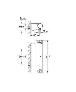 Термостатен смесител Grohe Grohtherm 2000 34469001