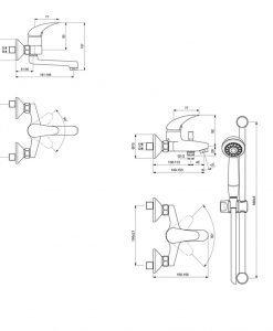 Комплект 1 смесители Видима ORION 3 В 1 BC821AA