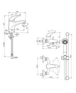 Комплект 2 смесители Видима ORION 3 В 1 BC821AA