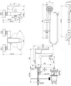 Комплект смесители Ideal Standard Ceraplan III BD005AA