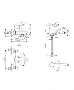 Комплект смесители Видима Scorpio 3 В 1
