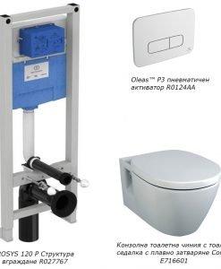 Комплект структура за вграждане и тоалетна CONNECT