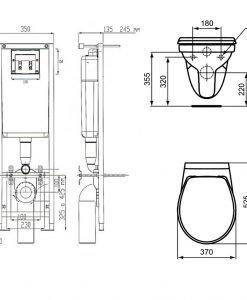 Комплект структура за вграждане и тоалетна Vidima SEVA FRESH