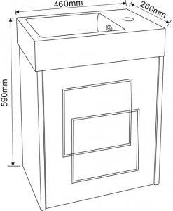 PVC шкаф за баня 4530 NEW 46*29