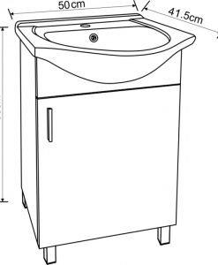 PVC шкаф за баня 5035