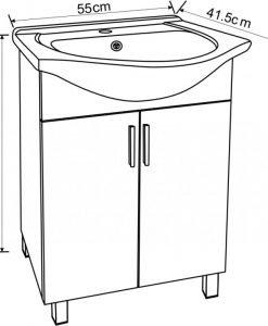 PVC шкаф за баня 5535