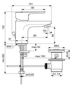 Смесител за умивалник Ideal Standard Ceraplan III H70 BC559
