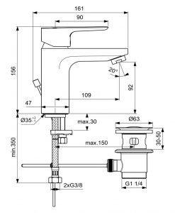 Смесител за умивалник Ideal Standard Ceraplan III BC560