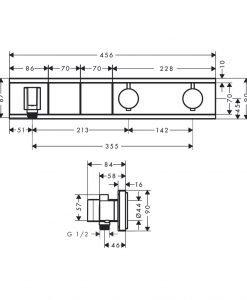HANSGROHE RainSelect Термостат за вграждане с две функции 15355000