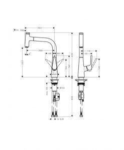 HANSGROHE TALIS Select M51 Кухненски смесител с издърпващ чучур 72822000