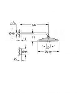 Комплект душ пита Grohe SmartConnect 310 26640000
