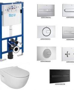 ROCA Окачена тоалетна MERIDIAN + структура и бутон DUPLO по избор
