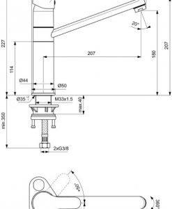 Смесител за кухня VIDIMA модел SCORPIO BC819AA