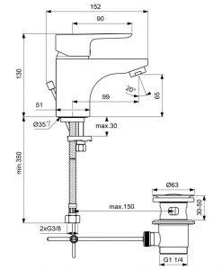 Смесител за мивка Ideal Standard Ceraplan III B0700AA
