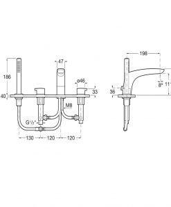 Стоящ смесител вана-душ Roca Insignia A5A093AC00