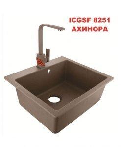 Комплект кухненска мивка със смесител Ахинора ICGSF 8251