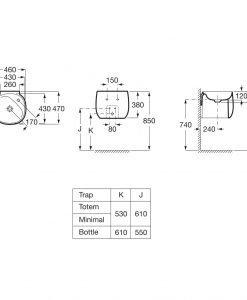 Порцеланов умивалник ROCA FINECERAMIC® BEYOND A3270B1000