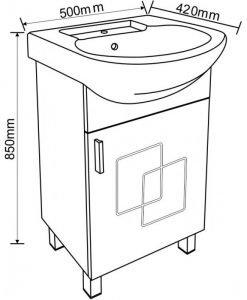 PVC шкаф за баня 5385