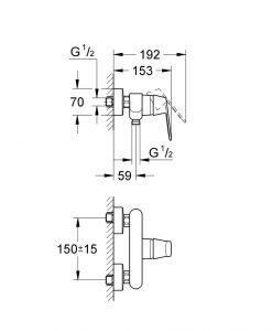 EUROSMART COSMOPOLITAN смесител за душ 32837000