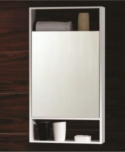 Горен огледален PVC шкаф 6046 1 WHITE