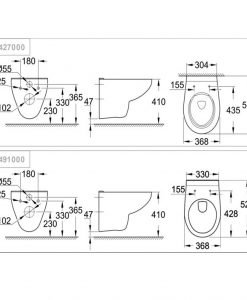 Конзолна тоалетна чиния GROHE BAU CERAMIC 39497000