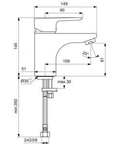 Смесител за мивка CERAPLAN III GRANDE B0705