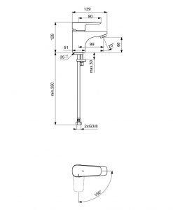 Смесител за мивка Ideal Standard Ceraplan III B0768
