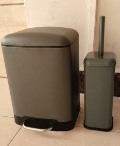 Тоалетно кошче за баня МАТИ 8286G сив мат