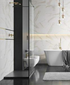 Ceramica Color плочки за баня серия Calacatta Gold 25×75