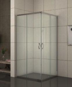 ДУШ КАБИНА КВАДРАТ 275 TC NEW 80*80 EASY ASSAMBLE прозрачно стъкло