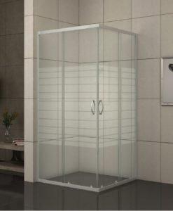 Душ кабина квадрат 275/31 NEW 80*80 EASY ASSAMBLE рисувано стъкло