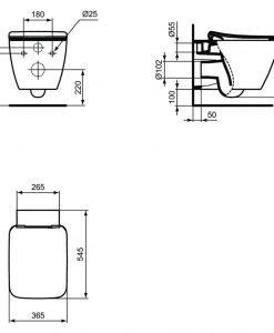 Колнзолна тоалетна чиния Strada II AquaBlade® T2997