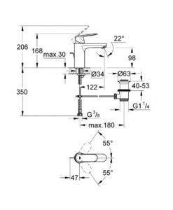 GROHE комплект за баня с термостат 23325000+34155003+27577002