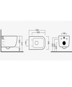 HATRIA Конзолна тоалетна чиния BIANCA Y1X401+YIVB01