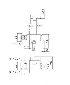 Хигиенен душ NEWFORM INTIMO 27720 21.018 хром