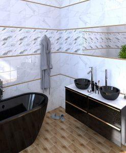 Плочки за баня CERAMICA COLOR модел MARIZA WHITE 25*40
