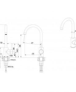 Месингов смесител за кухня цвят злато Сахара ICF 7107011G 7313
