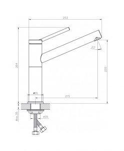 Месингов смесител за кухня ICF 7187186