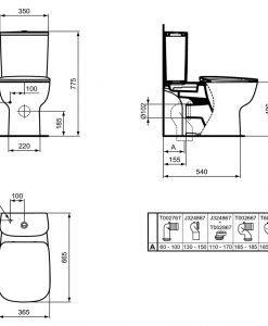 Моноблок IDEAL STANDARD ESEDRA AQUABLADE® T386101 с капак Sofr Close