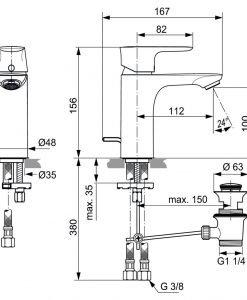 Смесител за мивка IDEAL STANDARD CONNECT AIR A7021A2