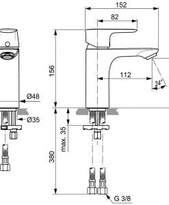 Смесител за мивка IDEAL STANDARD CONNECT AIR A7024A2