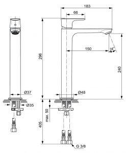 Висок смесител за мивка IDEAL STANDARD CONNECT AIR A7027A2