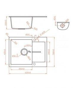 Гранитна кухненска мивка ICGS 8220SAND