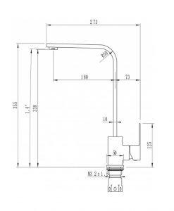 Кухненски смесител в цвят сатен ICF 7107018C