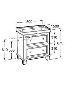 Мебел за баня от колекцията ROCA CARMEN 80см.
