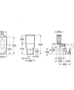 Моноблок Meridian и капак Multiclean® Advance Round