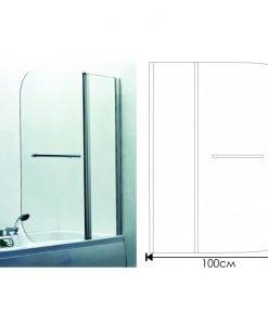 Параван за вана модел 112C L/R мат 100*140