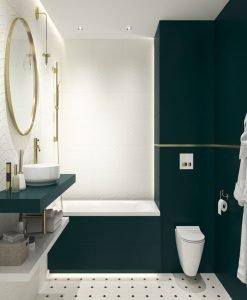 Плочки за баня CERAMIKA PARADYZ модел PORCELANO GREEN 30*60