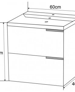 PVC шкаф за баня с бял порцеланов умивалник 5935W